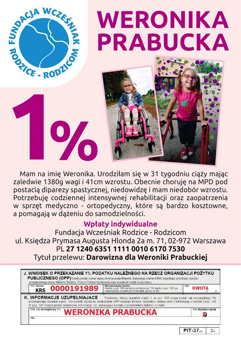 Weronika Prabucka wcześniak 1%
